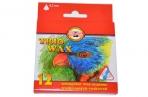 """Восковые мелки KOH-I-NOOR """"Trio Wax"""", 12 цв, трехгранные, картонная упаковка с европодвесом, 8272/12 оптом"""