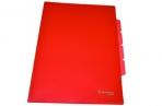 Папка-уголок 3 отделения, жесткая, BRAUBERG, красная, 0, 15мм, 224884 оптом