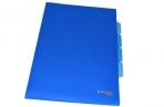 Папка-уголок 3 отделения, жесткая, BRAUBERG, синяя, 0, 15мм, 224885 оптом