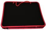 Папка на молнии пластиковая с ручками BRAUBERG Contract, А4 350*270*45 мм, черно/красная оптом