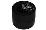 Скрепочница магнитная BRAUBERG с 30 скрепками, большой бочонок, черная, 225191 оптом