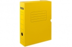 Короб архивный с клапаном OfficeSpace, микрогофрокартон,  75мм, желтый, до 700л. оптом