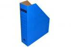 Лоток вертик гофро 75 мм А4  синий 700 листов оптом