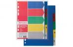 Разделитель пластиковый А5, 5 листов, цифровой 1-5, оглавл., (210x162мм), BRAUBERG, 225628 оптом