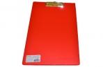 Доска-планшет ОФИСМАГ с верхним прижимом А4, 23*35см, картон/ПВХ, РОССИЯ, КРАСНАЯ оптом