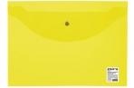 Папка-конверт с кнопкой STAFF, А4, до 100 л, прозрачная, желтая, 0, 12 мм, 226031 оптом