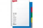 Разделитель листов Berlingo А5, 5 листов, без индексации, цветной, пластиковый оптом
