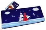 Пенал-косметичка BRAUBERG для начальной школы, мальчик, синий, Корабль, 20*10 см оптом