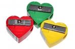 Точилка ПИФАГОР, без контейнера, пластиковая, ассорти, сердечко, 226532 оптом