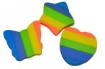 """Ластик ПИФАГОР, """"Радуга"""", 30x30x6 мм, цветной, фигурный, 226535 оптом"""