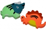 Ластик Динозаврики ПИФАГОР, 35х23х5 мм, цвет ассорти, 226536 оптом