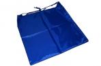 Сумка для обуви ТОП-СПИН для учеников начальной школы, 1 шнур с пластиковым фиксатором, синяя, 43х35 оптом