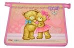 Папка для тетрадей А5, ламинат с цветной печатью, молния сверху, девочка, Мишки, ПТ-6270 оптом