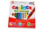 Восковые карандаши 12 цв., CARIOCA (Италия), смываемые, картонная коробка с европодвесом, 42366 оптом