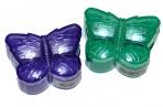 Точилка ПИФАГОР с контейнером, пластиковая, БАБОЧКА, цвет корпуса ассорти, 226935 оптом