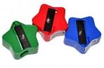 Точилка ПИФАГОР, пластиковая, ЗВЕЗДОЧКА, цвет корпуса ассорти, 226936 оптом