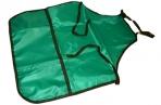 Фартук для труда и занятий творчеством ПИФАГОР с карманом, зеленый, 44х55см, оптом
