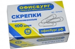 Скрепки ОФИСБУРГ, 28 мм, оцинкованные, 100 шт., в картонной коробке, 227579 оптом