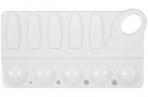 Палитра для рисования ПИФАГОР белая, пластиковая, прямоугольная, 10 ячеек, 227809 оптом