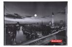 Папка-конверт с кнопкой А4, BRAUBERG NIGHT CITY, 160 мкм, до 100 листов, цветная печать, оптом