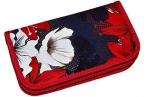Пенал BRAUBERG, 2 отделения, металлизированный картон, конгрев, 19х11см, Цветы, 228098 оптом