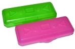 Пенал пластиковый ПИФАГОР тонированный, ассорти 4 цвета, 20х7х4 см, 228113 оптом