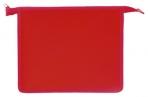 Папка для тетрадей А5 ПИФАГОР, пластик, молния сверху, один тон, красная, 228222 оптом