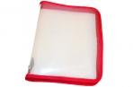 Папка для тетрадей А5 ПИФАГОР, пластик, молния вокруг, прозрачная, красная, 228224 оптом
