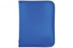Папка для тетрадей А5 ПИФАГОР, пластик, молния вокруг, один тон, синяя, 228227 оптом