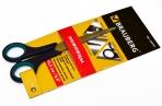 """Ножницы BRAUBERG """"Soft Grip"""", 165 мм, рез вставки, серо-зел, 3-х стор заточка, карт. уп с подв, 230761 оптом"""
