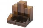 Подставка-органайзер BRAUBERG-CONTRACT, 109*95*101, 5 мм, 5 отделений, тонированная, 230994 оптом