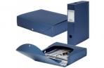 Короб архивный пластик BRAUBERG Energy, 7см (на 600л) разборный, синий, 231539 оптом