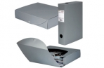 Короб архивный пластик BRAUBERG Energy, 7см (на 600л) разборный, серый, 231540 оптом