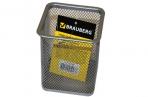 "Подставка-органайзер BRAUBERG ""Germanium"", металлическая, квадр. основан, 98х80х80мм, серебр, 231939 оптом"
