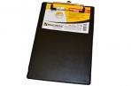"""Доска-планшет BRAUBERG """"NUMBER ONE A5"""" с верхним прижимом, 15, 8*23см, картон/ПВХ, черная, оптом"""