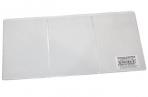 Обложка для автодокументов трехсекционная, 262х122 мм (в разлож. виде), ПВХ, прозрачная, ДПС, 1415 оптом