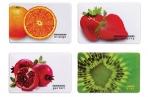 """Обложка-карман для карт, пропусков """"Фрукты"""", 95х65 мм, ПВХ, полноцветный рисунок, дизайн ассорти, ДПС, 2802. ЯК. Ф оптом"""