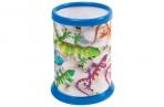 Подставка-стакан для канцелярских принадлежностей BRAUBERG, 3D ЭФФЕКТ, Ящерицы, D87x106мм, 236442 оптом