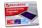 Штемпельная подушка синяя краска 100*80 мм (рабочая поверхность 90*50 мм), BRAUBERG, 236867 оптом