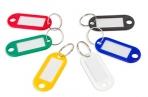 Бирка для ключей, длина 50 мм, инфо-окно 30х15 мм, АССОРТИ, STAFF, оптом