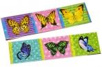 """Закладка - магнит для книг, 25*200мм, ArtSpace """"Бабочки"""", блестки оптом"""