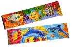 """Закладка - магнит для книг, 25*200мм, ArtSpace """"Морские обитатели"""", блестки оптом"""