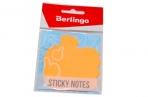 """Пост фигурный Berlingo """"OK!"""" 70*70мм, 50л, оранжевый неон, европодвес оптом"""