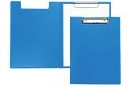 Папка-планшет с зажимом OfficeSpace А4, пластик, синий оптом