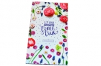 """Телефонная книга А5, 80л., 7БЦ,  """"Яркие цветы"""", выборочный уф-лак, с высечкой, OfficeSpace оптом"""