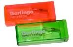 """Точилка пластиковая Berlingo """"NeonBox"""", 1 отверстие, контейнер, ассорти оптом"""