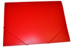 Папка на резинкеА4, 500мкм, красная OfficeSpace оптом
