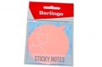"""Пост фигурный Berlingo """"Диалог"""" 70*70мм, 50л, розовый неон, европодвес оптом"""