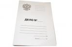 Папка Дело OfficeSpace, Герб России, картон немелованный, 300г/м2, белый, до 200л. оптом