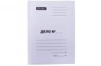 """Скоросшиватель картон немелованный, 300г/м2, OfficeSpace """"Дело"""", белый, пробитый, до 200л. оптом"""